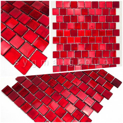 sample tile glass mosaic model drio rouge