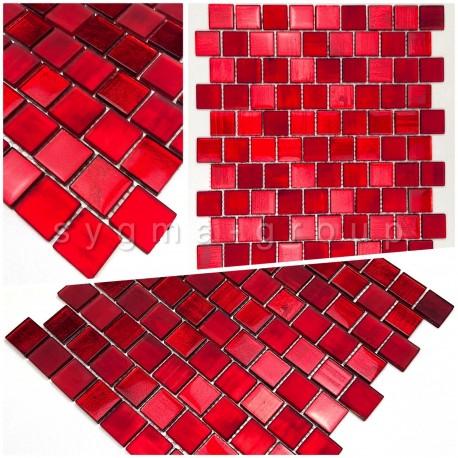 sample tile glass mosaic model drio rouge