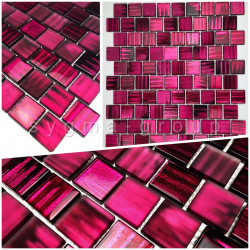 azulejo muestra mosaico de vidrio modelo drio violet