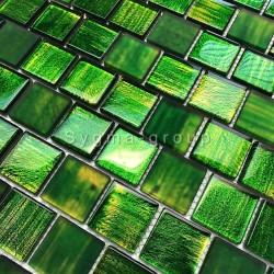 mosaique pour crédence cuisine et carrelage salle de bains 1m drio vert