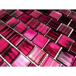 carrelage mosaique mural en verre pour cuisine et salle de bains 1m drio violet