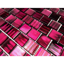 glass mosaic wall tile for kitchen and bathroom 1m drio violet
