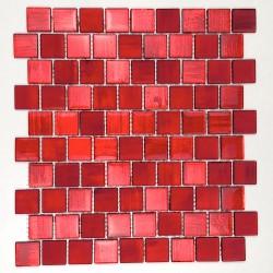 Mosaico de muro y suelo en vidrio mv-driorouge