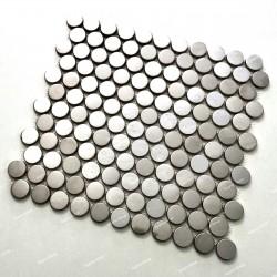 mosaico acero inoxidable espejo cocina placa BERKO