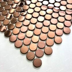mosaico acero inoxidable espejo cocina placa BERKO CUIVRE