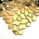 carrelage galets en acier cuivre pour sol ou mur Syrus Gold