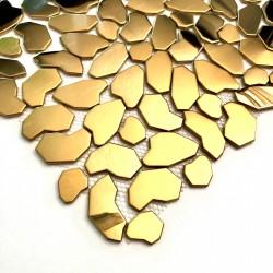 carrelage galets en acier inoxydable pour sol ou mur SYRUS GOLD