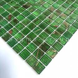 glassmosaic tile bathroom Speculo Vert
