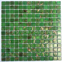 Glassmosaic wall and floor bathroom kitchen Plaza Vert