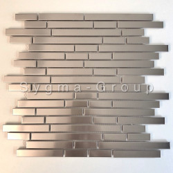 mosaic and tile wall stainless steel kitchen NORKLI
