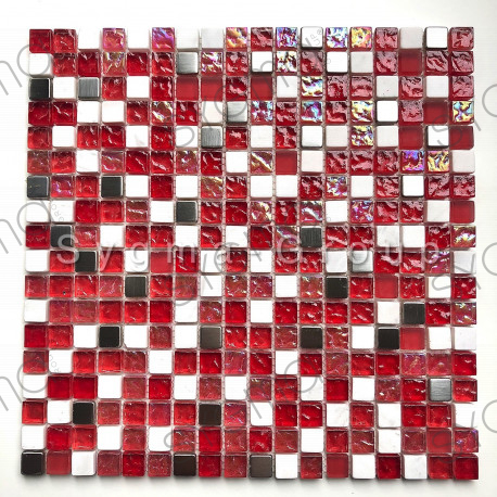 Mosaic glass and stone floor or wall Gilmor