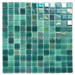 Glass tiles backsplash kitchen wall and bathroom mosaics Habay Vert