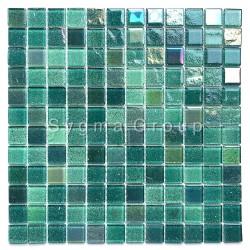 Mosaico de azulejos de vidrio de la cocina y el baño Habay Vert