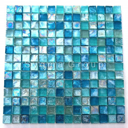 blue mosaic kitchen bathroom tile Arezo Turquoise