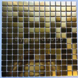 stainless steel metal mosaic for bathroom and kitchen CARTO GOLD