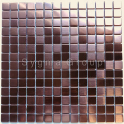 Copper color stainless steel metal mosaic for bathroom and kitchen CARTO CUIVRE