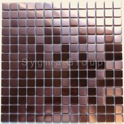 mosaique en inox metal pour salle de bains et cuisine CARTO CUIVRE