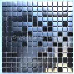 Mosaico de acero inoxidable de baldosas de metal cocina CARTO