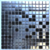 Mosaic stainless steel tile metal splashback kitchen CARTO