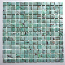 glass mosaic tile for shower and bathroom Speculo Celadon