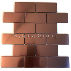 Stainless steel mosaic and tiles for kitchen walls backsplash LOFT CUIVRE