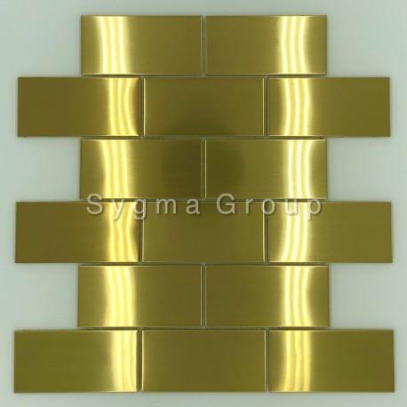 Malla azulejos de la cocina de acero inoxidable LOFT GOLD