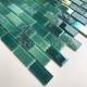 Mosaique en verre murale de cuisine ou de salle de bains Kalindra Vert