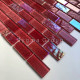 Red glass mosaic wall bathroom and kitchen Kalindra Rouge