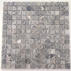Marble stone mosaic floor and wall Nizza Gris