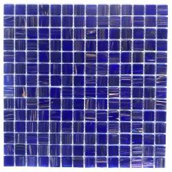 Malla azulejos de mosaico de vidrio baño ducha y cocina Plaza Bleu Nuit