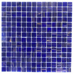 Mosaic tiles glass bathroom shower and kitchen Plaza Bleu Nuit
