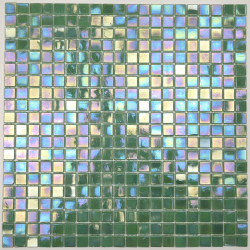 glass mosaic tiles bathroom shower Imperial Vert