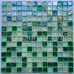 Tile mosaic glass backsplash kitchen bathroom Arezo Vert