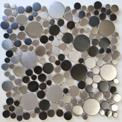 mosaic metal stainless steel floor and wall Focus Twin
