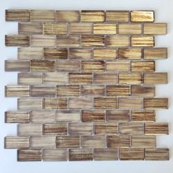 Mosaico para paredes de baños y cocinas Haines Marron
