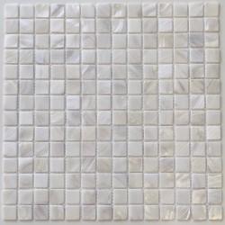 Carrelage mosaique en nacre sol et mur de douche et salle de bain Nacarat Blanc