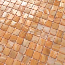 azulejo mosaico de nacar para suelo y pared 1m Nacarat Orange