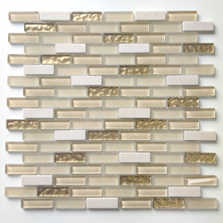 azulejos de la cocina de la cocina de mosaico de vidrio y piedra Aramis