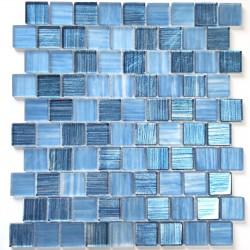 Mosaico azulejo de vidrio par pared y suelo modelo drio bleu