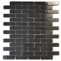 Mosaico de acero inoxidable modelo Logan Noir