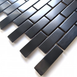 mosaic stainless steel for wall model 1sqm Logan Noir