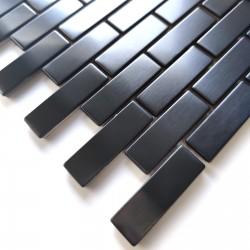 mosaico de acero inoxidable para pared modelo 1m2 Logan Noir