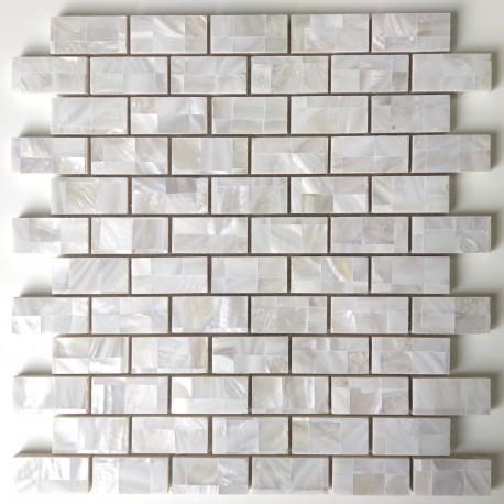 Carrelage mosaique nacre sol douche salle de bain Holms