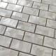 Shell mosaic tile floor and wall bathroom Holms