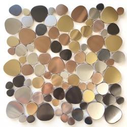 Mosaico y azulejo de acero inoxidable Leola