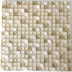 azulejos baño y ducha de mosaico de vidrio y piedra Luxury