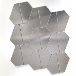 Stainless mosaic sheet tile backsplash or bathroom Kyoko