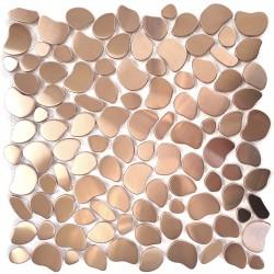 teja de acero inoxidable mosaico de cocina galet cuivre