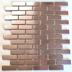 Azulejos para muro de cocina acero inoxidable Logan Cuivre