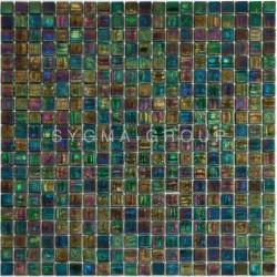 azulejo de mosaico de ducha vidrio Imperial Emeraude